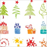 Link toPink lovely christmas element vector 2