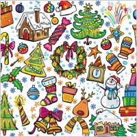 Link toPink lovely christmas element vector