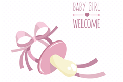 Link toPink pacifier vector