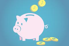 Link toPink pig piggy vector