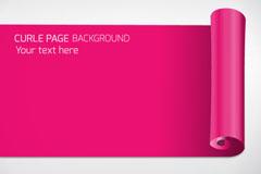 Link toPink red edge paper background vector