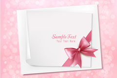 Link toPink ribbon card background vector