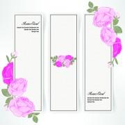Link toPink rose banner vector 02 free