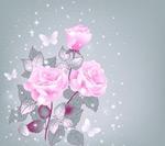 Link toPink roses vector