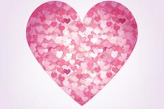 Link toPink small broken heart mix love vector
