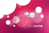 Link toPink theme business card vector