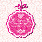 Link toPink valentines day card vector