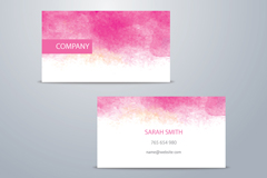 Link toPink water colour business cards vector