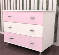 Link toPink white spliced bedside cabinet 3d model