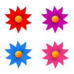 Link toPinwheel shape little flowers