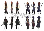 Link toPirates of the caribbean characters vector