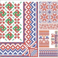 Link toPixel border style pattern vector