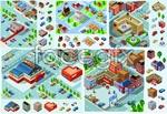 Link toPixel community facilities building vector