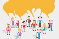Link toPixel sims language bubbles vector