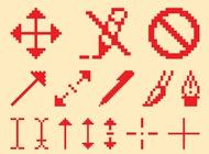 Link toPixelated icon set vector free