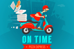 Link toPizza delivery vector