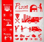 Link toPizza element icon vector