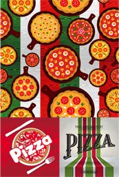 Link toPizza theme menu design vector
