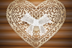 Link toPlacemat white lace love vector