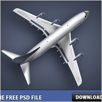 Link toPlane free psd file
