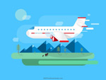 Link toPlanes on business trips vector