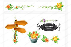 Link toPlant border flowers vector
