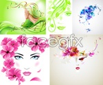 Link toPlant decoration of female avatars vector