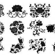 Link toPlant flourish decorative elements vector 02 free
