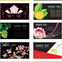 Link toPlant flowers theme card template vector