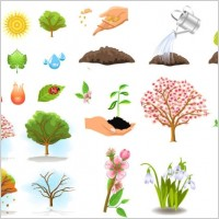 Link toPlant trees vector