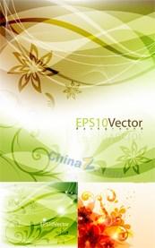 Plants flower ornament vector background