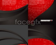 Link tovector arrow red backgrounds Plate