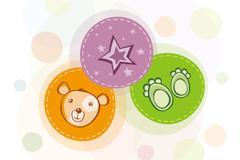 Link toPlayful bears head vector illustration