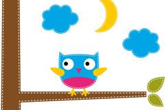 Link toPlayful coloured owl vector