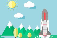 Link toPlayful shuttle vector illustration
