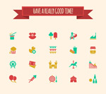 Link toPlayground elements icons vector