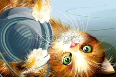 Link toPlaying cute little cat vector