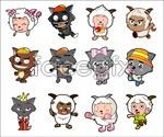 Link toPleasant goat cartoon character vector