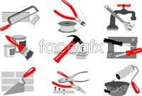 Pliers adjustable wrench screwdriver tool vector