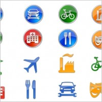Link toPoints of interest icon set icons pack
