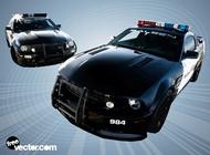 Police car vectors free