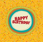 Link toPolka dot birthday cards vector