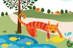 Link toPond fish cat vector