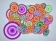 Pop art circles vector free