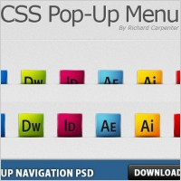 Link toPop-up navigation free psd