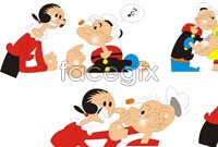 Link toPopeye cartoon vector