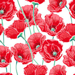 Link toPoppy seamless background vector
