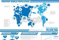 Link toPopulation data, infographic vector