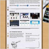 Link toPortfolio layout free psd