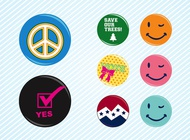 Link toPositive badges vector free